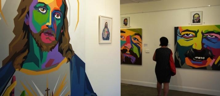 Street art exhibition 'Raw Spirit' at Red Point Gallery. Artist: Ayjay